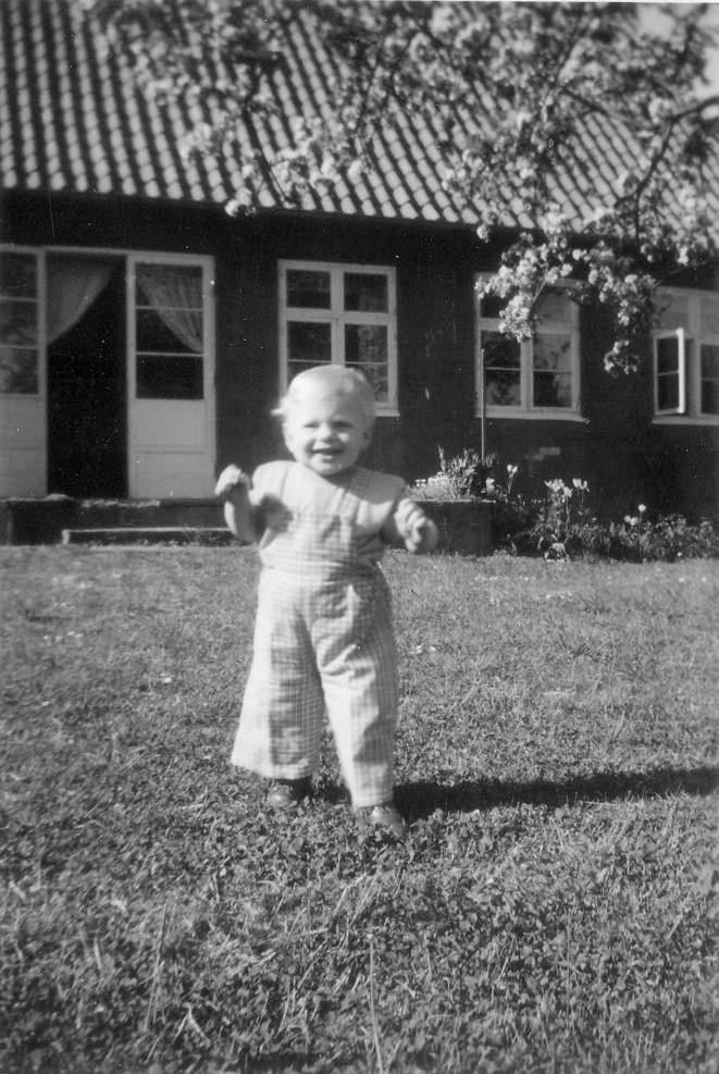 Olaf la Cour, 1 year old, Pedersker, Bornholm