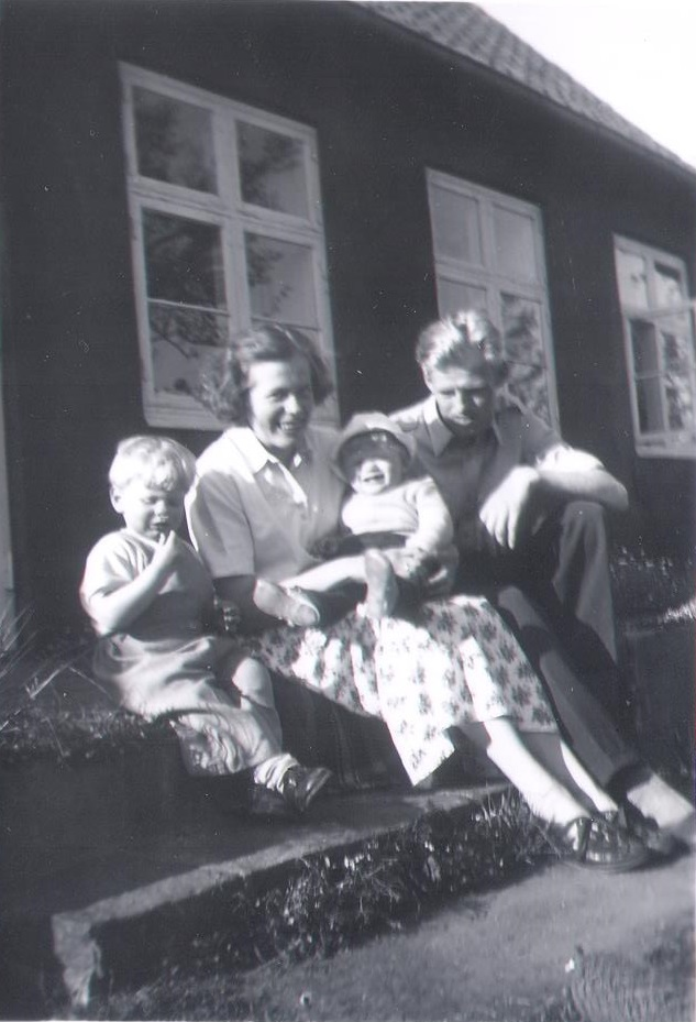 Olaf la Cour, with family, Pedersker, Bornholm